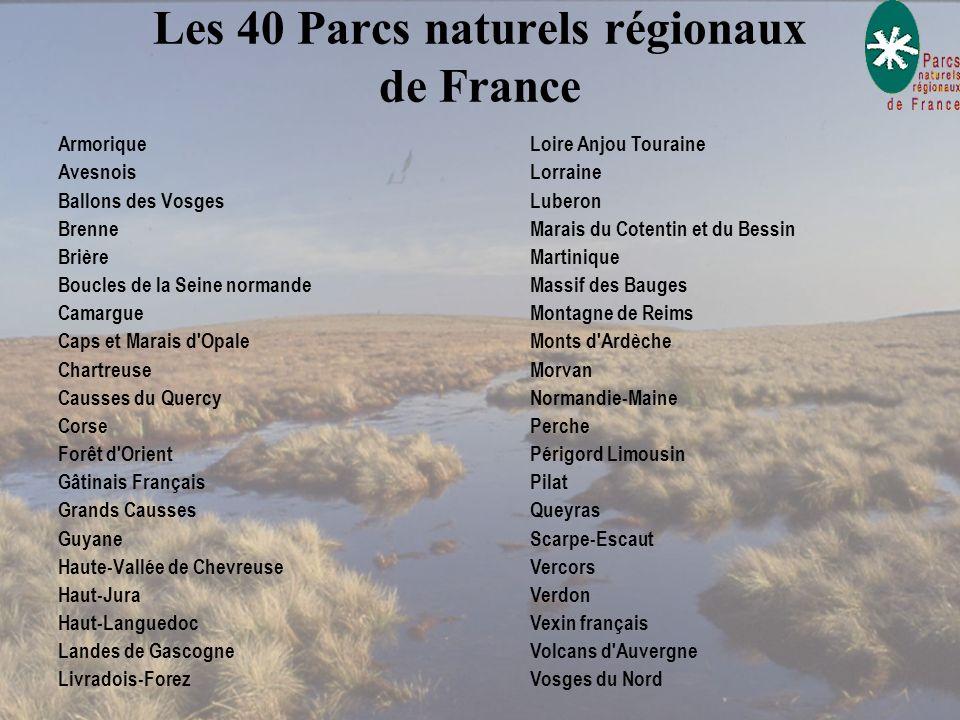 Les 40 Parcs naturels régionaux de France