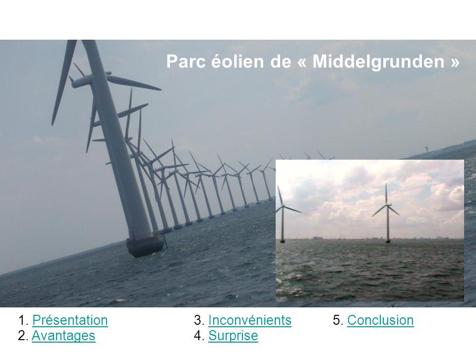 Parc éolien de « Middelgrunden »