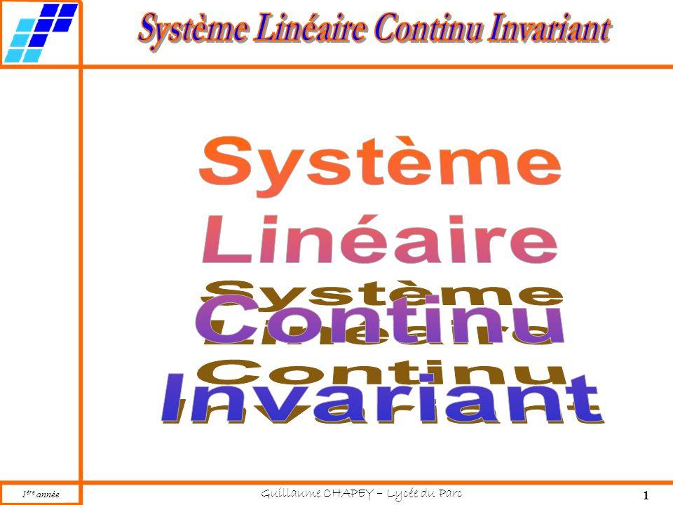 Système Linéaire Continu Invariant