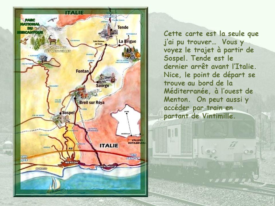 Cette carte est la seule que j'ai pu trouver… Vous y voyez le trajet à partir de Sospel.