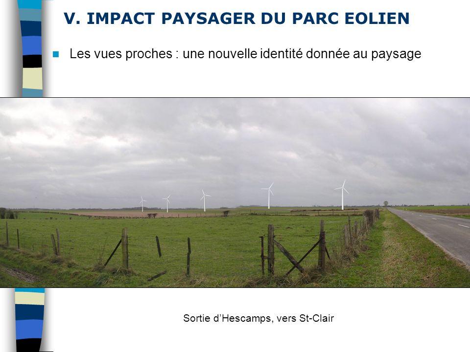 V. IMPACT PAYSAGER DU PARC EOLIEN