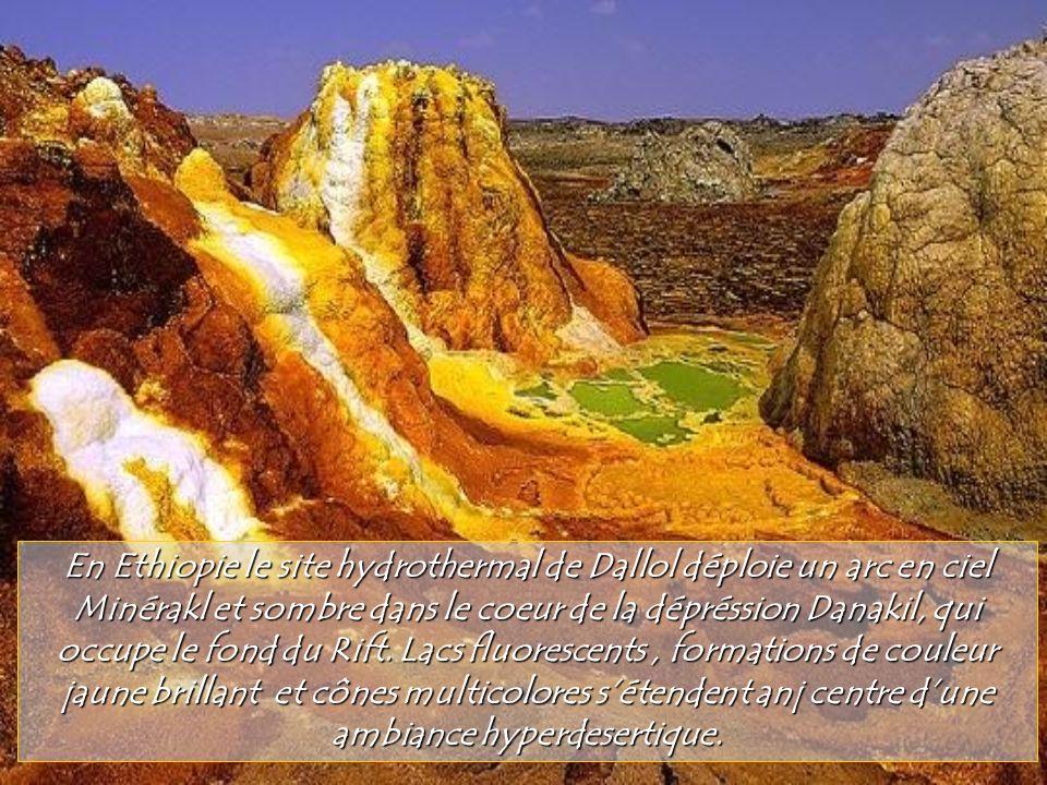 En Ethiopie le site hydrothermal de Dallol déploie un arc en ciel