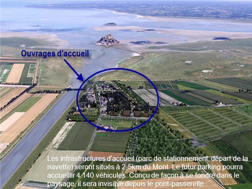 Les infrastructures d accueil (parc de stationnement, départ de la navette) seront situés à 2,5km du Mont.