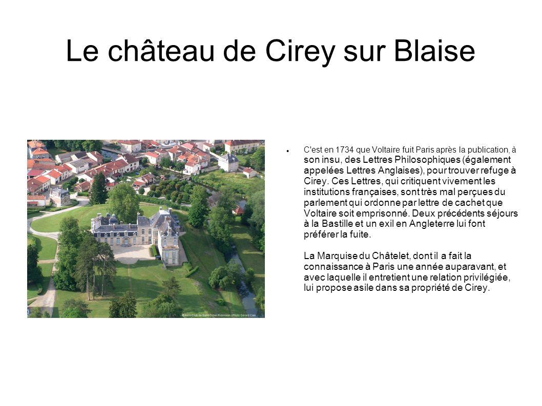 Le château de Cirey sur Blaise