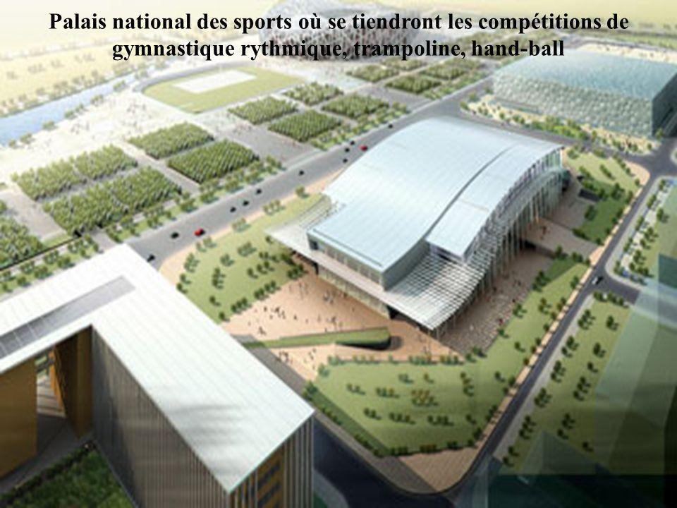 Palais national des sports où se tiendront les compétitions de gymnastique rythmique, trampoline, hand-ball