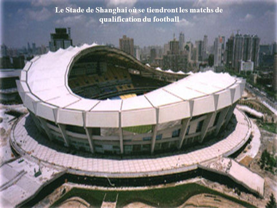 Le Stade de Shanghai où se tiendront les matchs de qualification du football