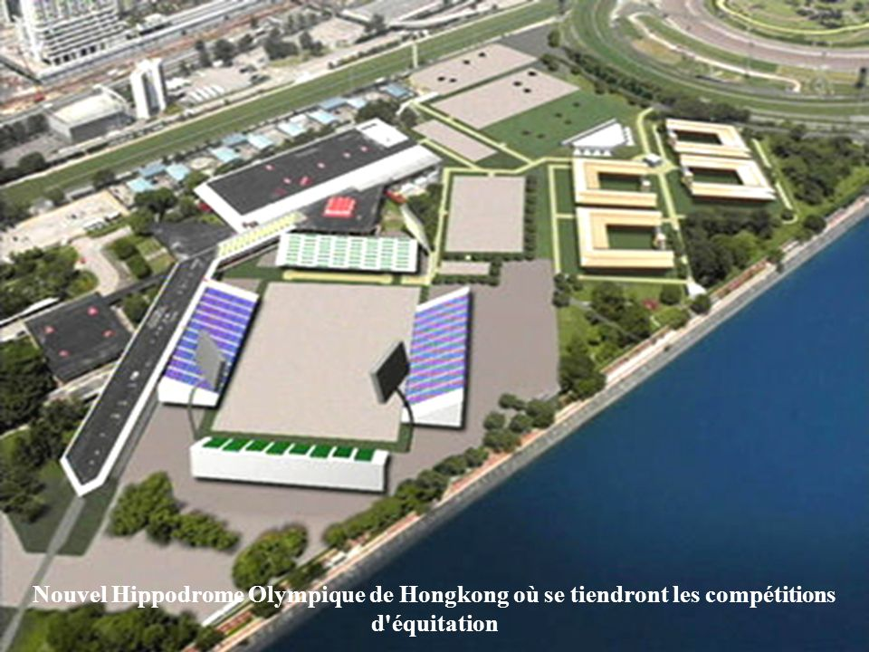 Nouvel Hippodrome Olympique de Hongkong où se tiendront les compétitions d équitation