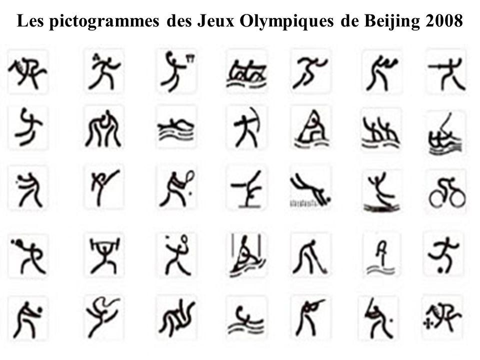 Les pictogrammes des Jeux Olympiques de Beijing 2008