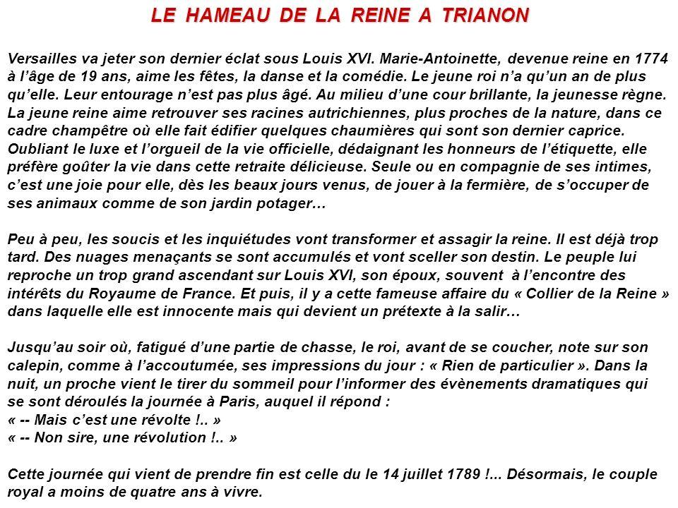 LE HAMEAU DE LA REINE A TRIANON