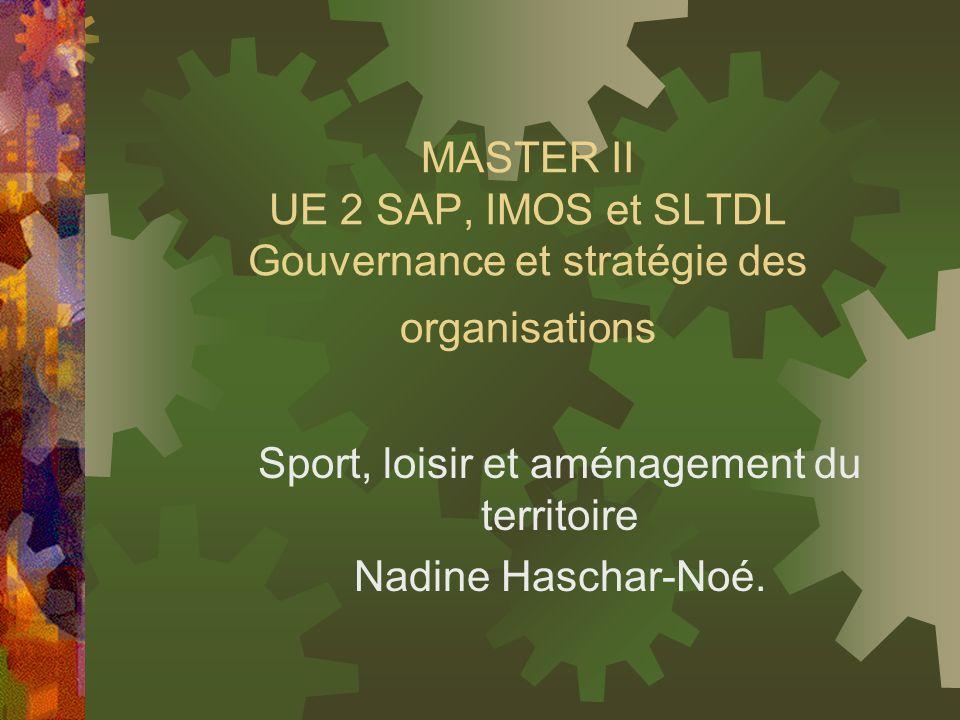 Sport, loisir et aménagement du territoire Nadine Haschar-Noé.