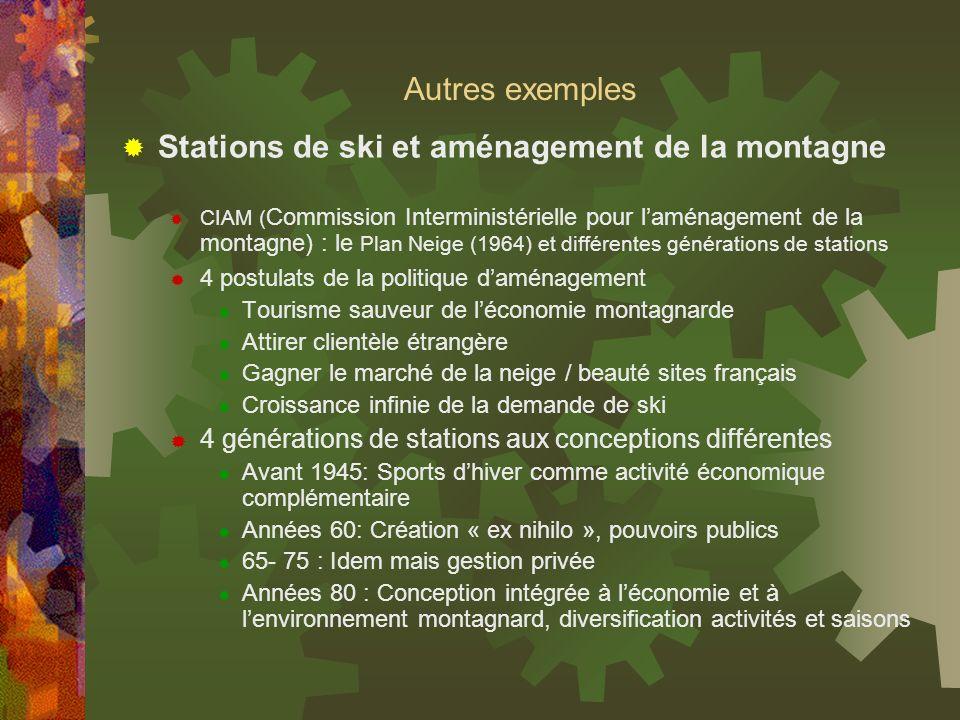 Stations de ski et aménagement de la montagne