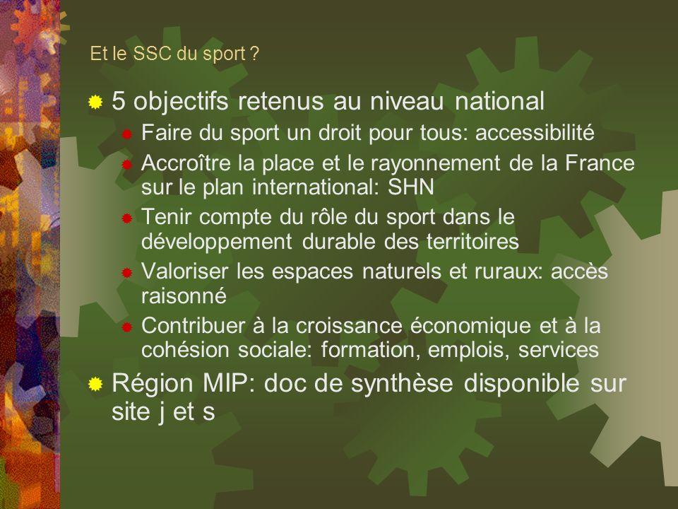 5 objectifs retenus au niveau national