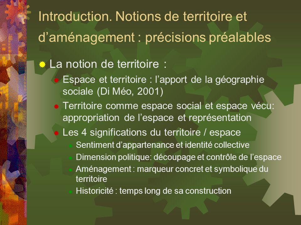Introduction. Notions de territoire et d'aménagement : précisions préalables