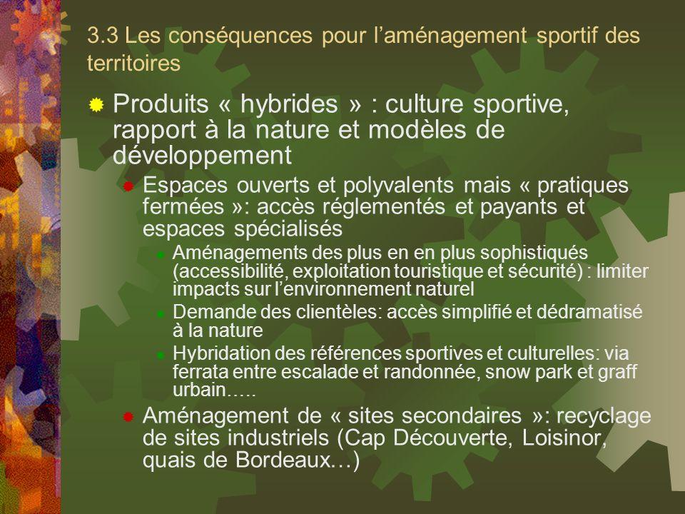 3.3 Les conséquences pour l'aménagement sportif des territoires
