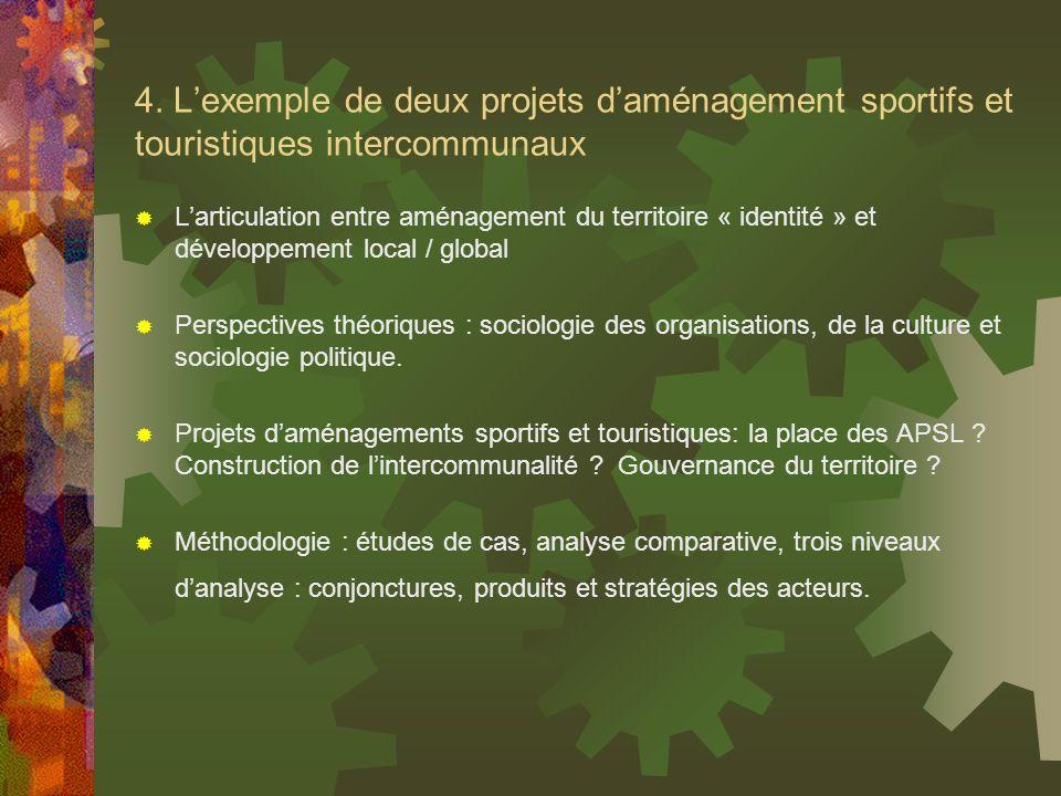 4. L'exemple de deux projets d'aménagement sportifs et touristiques intercommunaux