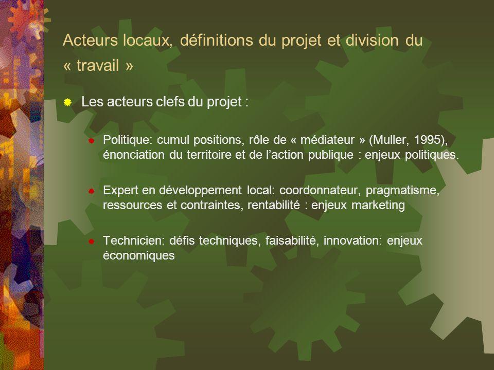 Acteurs locaux, définitions du projet et division du « travail »