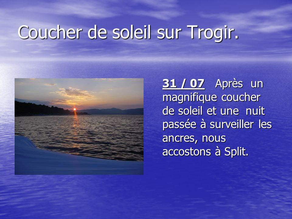 Coucher de soleil sur Trogir.