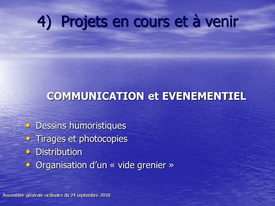 4) Projets en cours et à venir