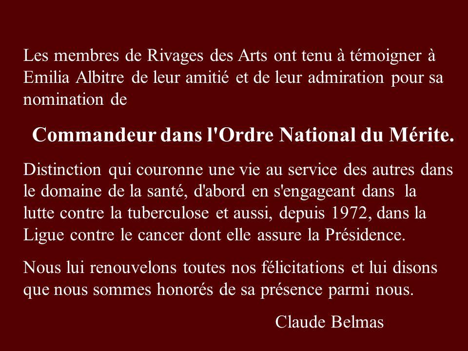 Commandeur dans l Ordre National du Mérite.