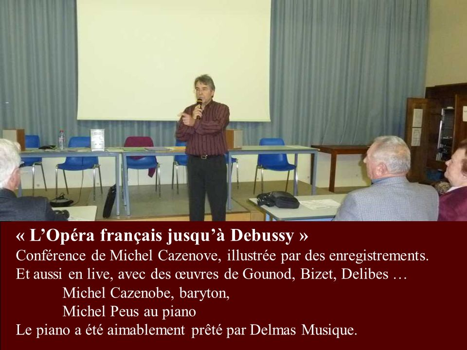 « L'Opéra français jusqu'à Debussy »