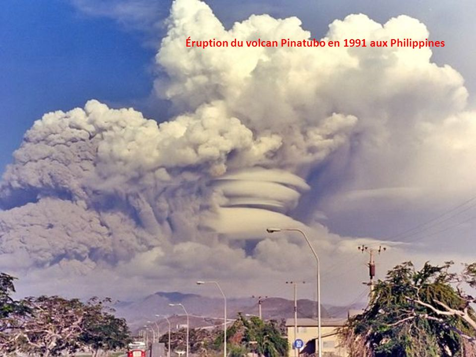 Éruption du volcan Pinatubo en 1991 aux Philippines