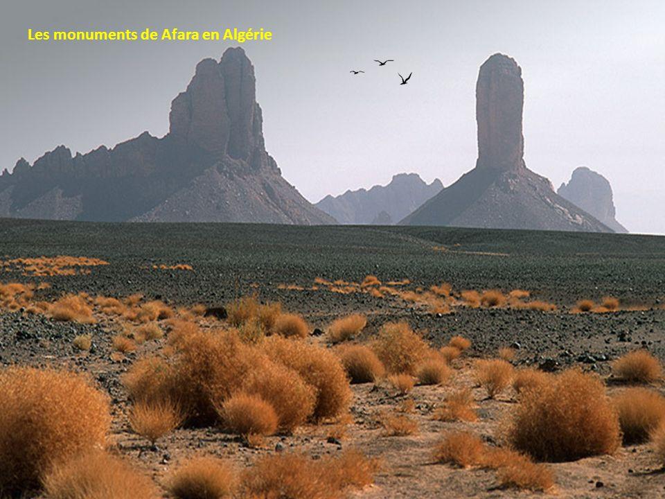 Les monuments de Afara en Algérie