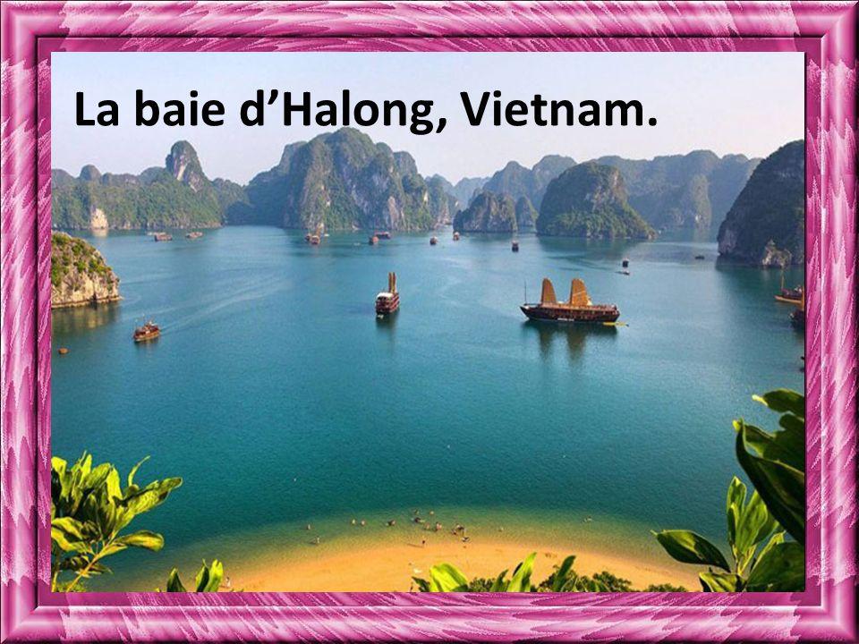 La baie d'Halong, Vietnam.