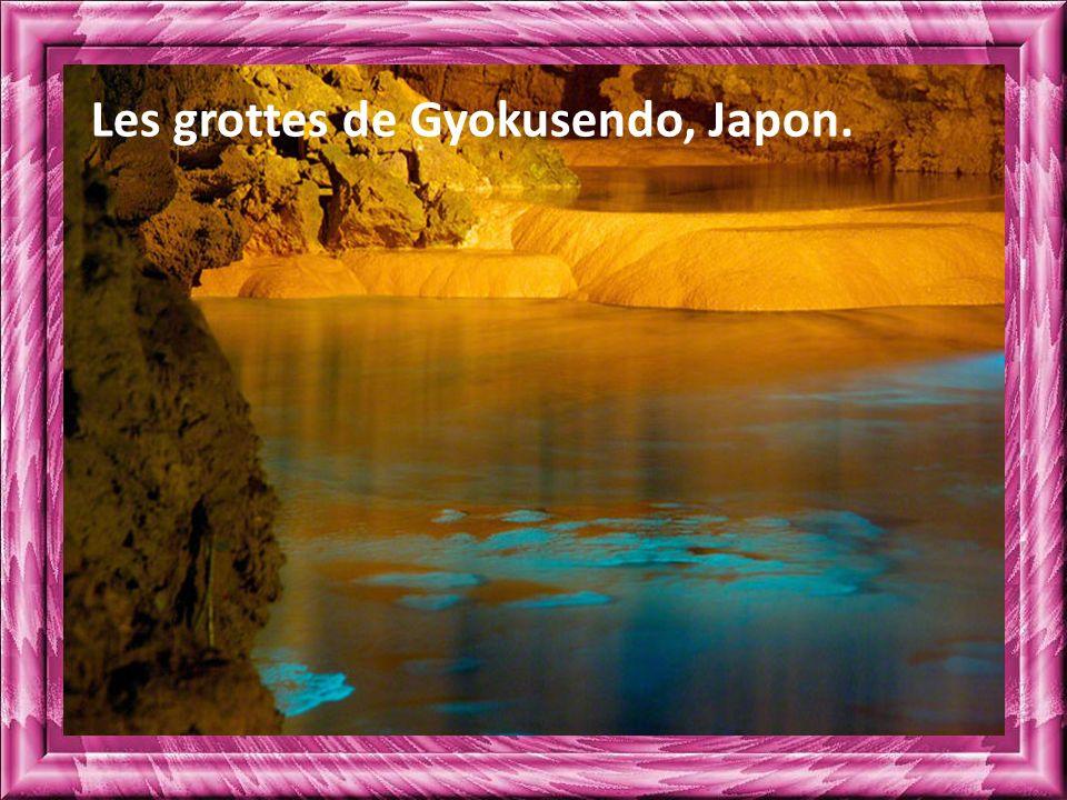 Les grottes de Gyokusendo, Japon.