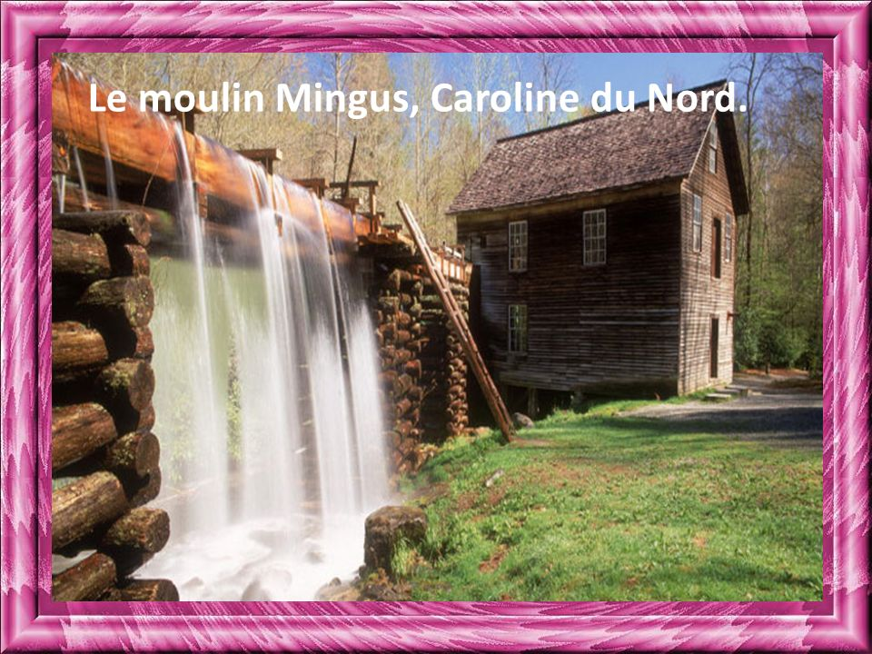 Le moulin Mingus, Caroline du Nord.