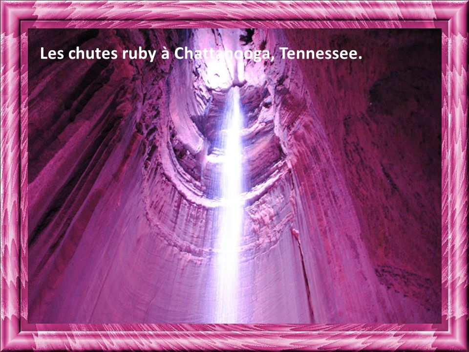 Les chutes ruby à Chattanooga, Tennessee.