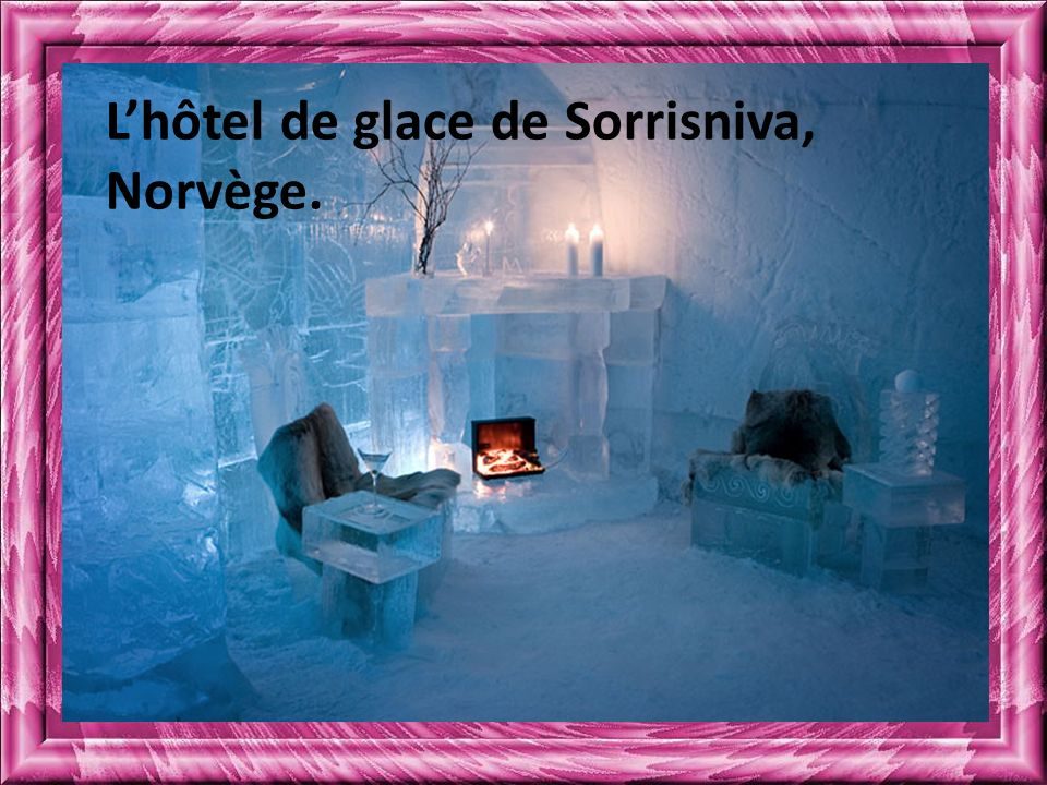 L'hôtel de glace de Sorrisniva, Norvège.