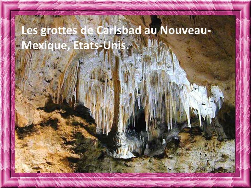 Les grottes de Carlsbad au Nouveau-Mexique, Etats-Unis.