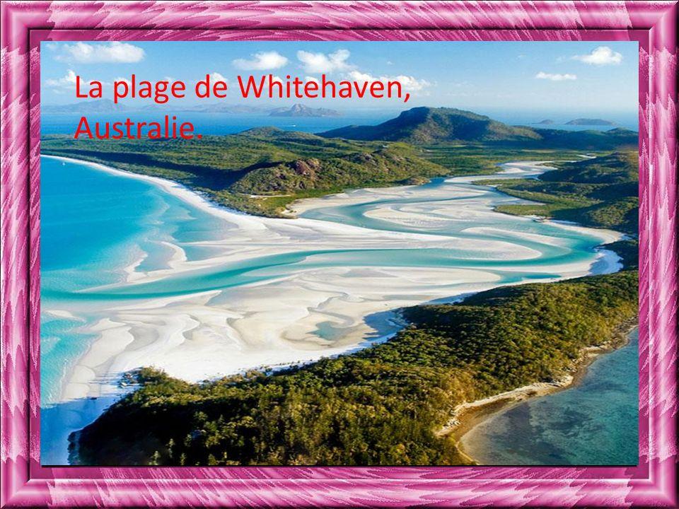 La plage de Whitehaven, Australie.