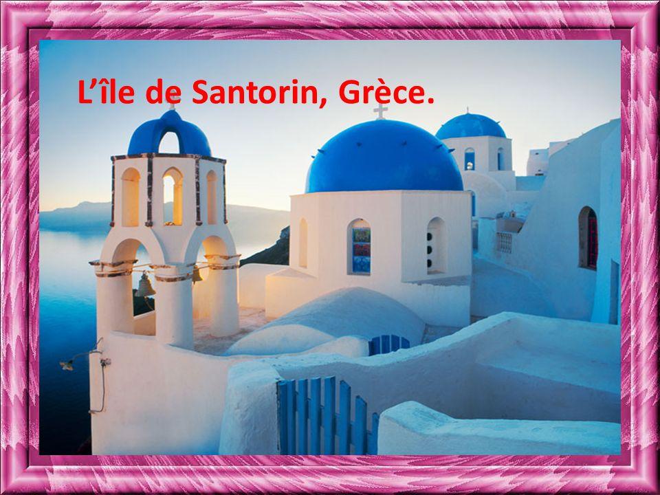 L'île de Santorin, Grèce.