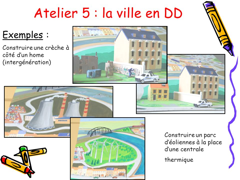 Atelier 5 : la ville en DD Exemples :