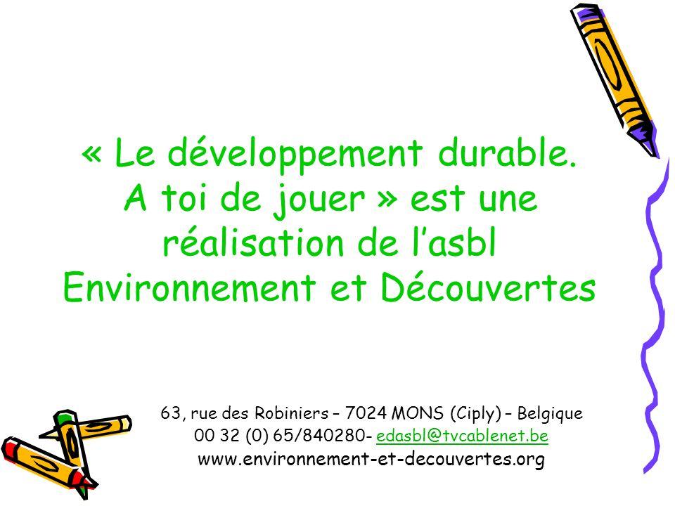 « Le développement durable