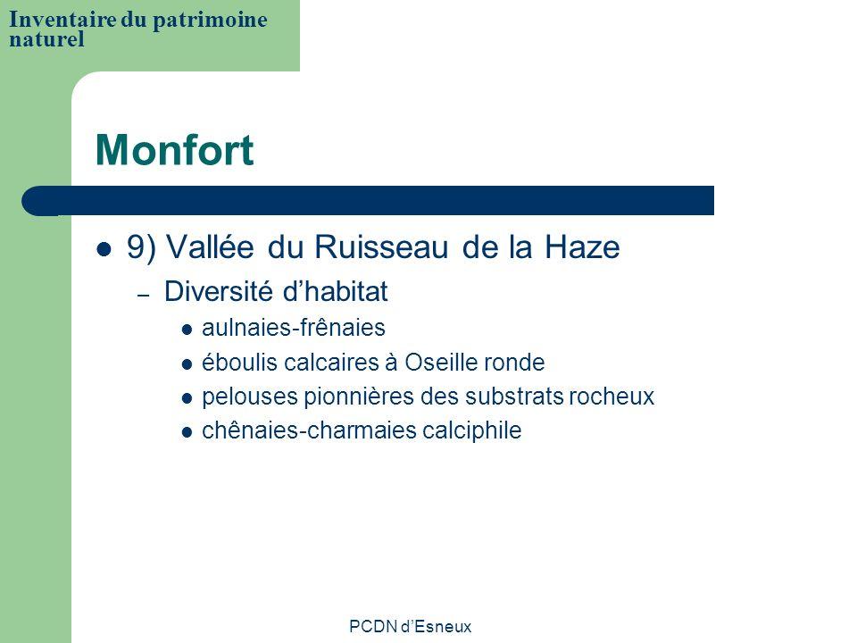 Monfort 9) Vallée du Ruisseau de la Haze Diversité d'habitat