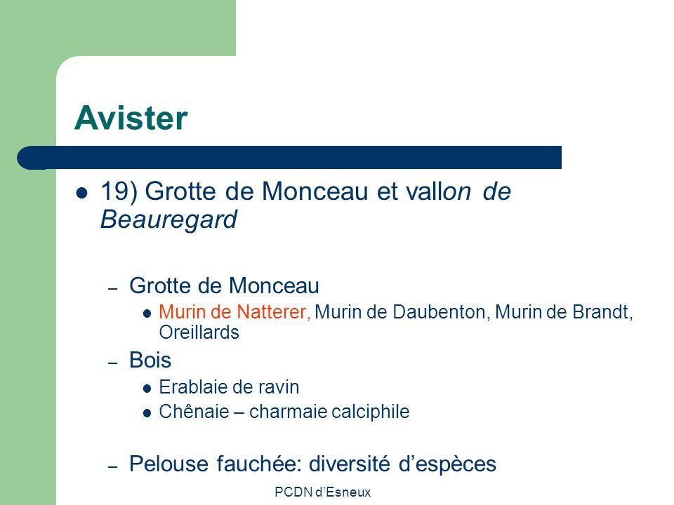 Avister 19) Grotte de Monceau et vallon de Beauregard