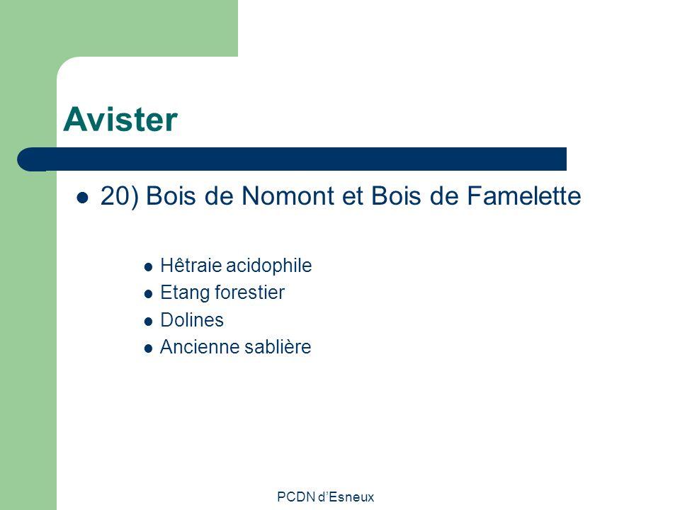Avister 20) Bois de Nomont et Bois de Famelette Hêtraie acidophile