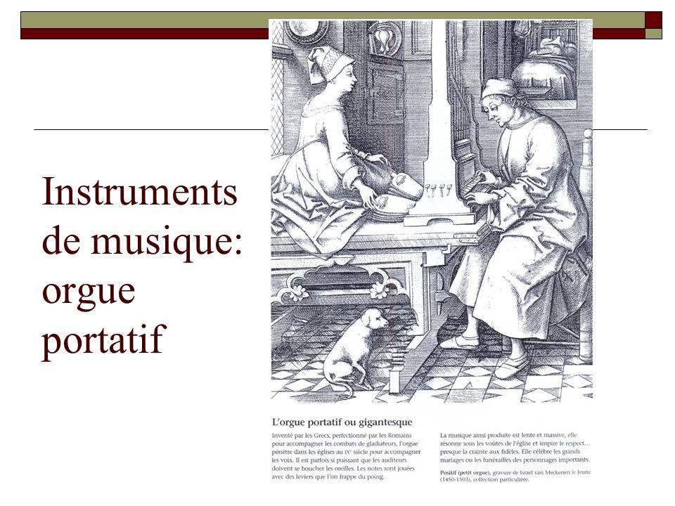 Instruments de musique: orgue portatif