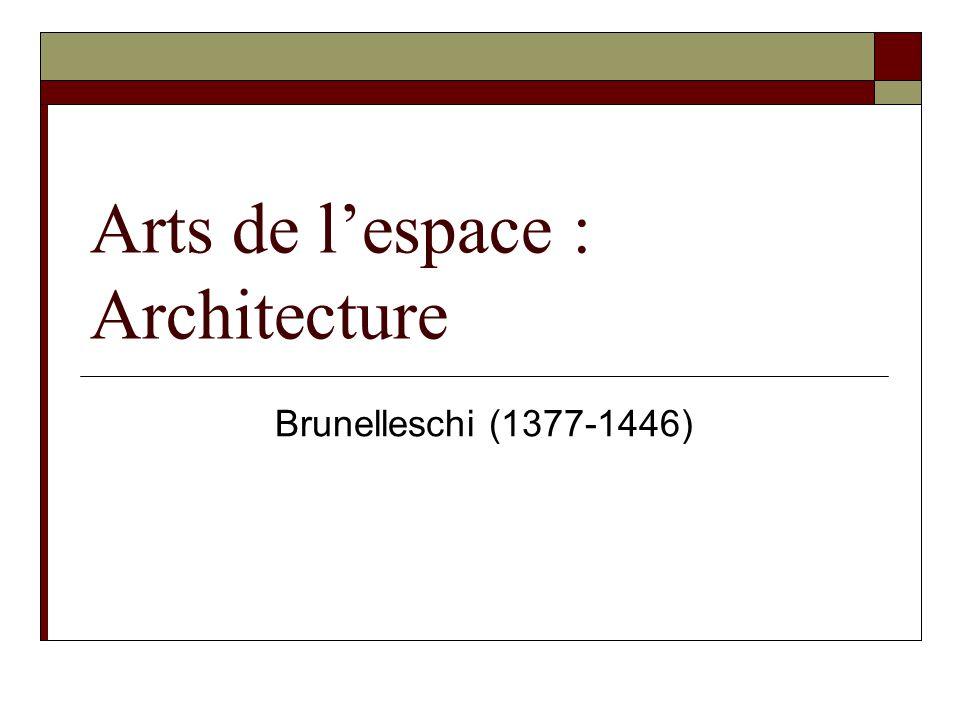 Arts de l'espace : Architecture