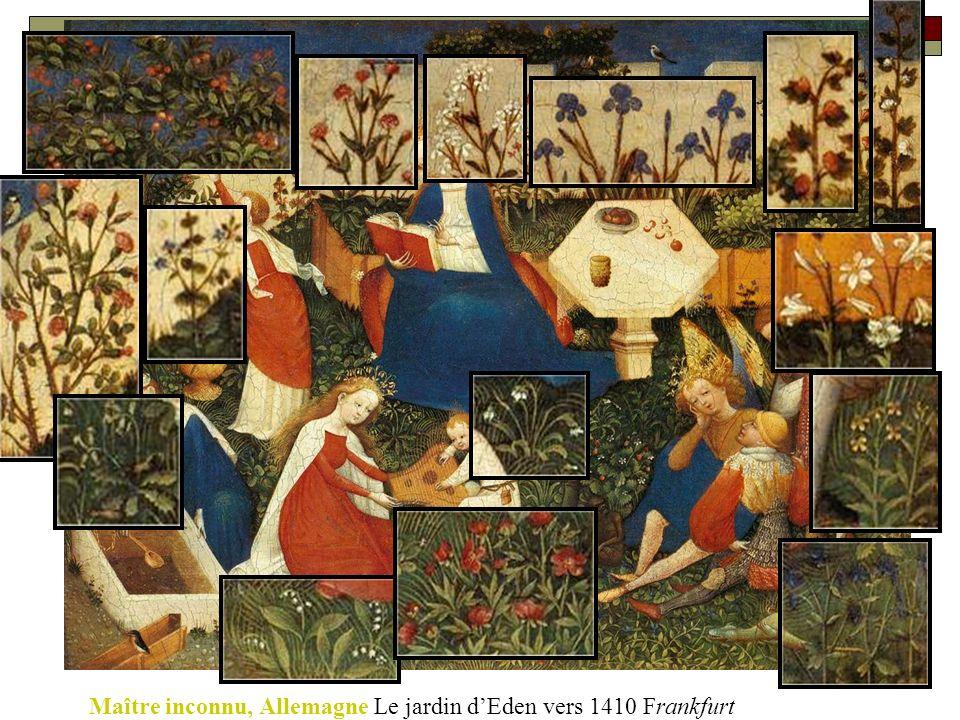 Maître inconnu, Allemagne Le jardin d'Eden vers 1410 Frankfurt