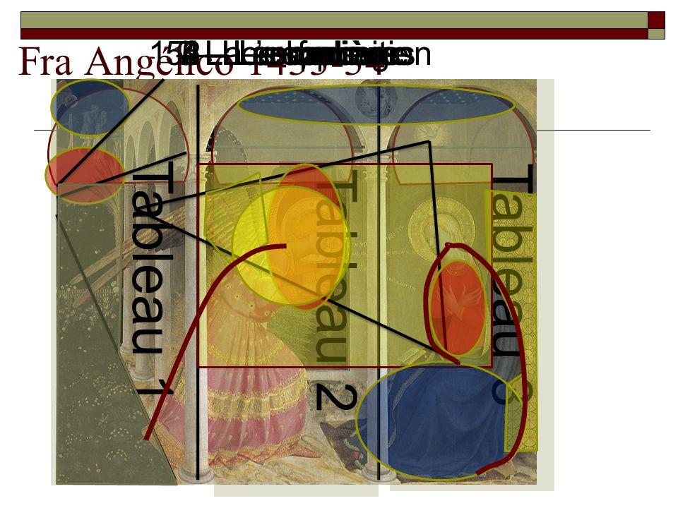 Tableau 1 Tableau 3 Tableau 2 Fra Angélico 1433-34 1 – La composition