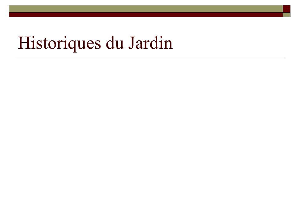 Historiques du Jardin