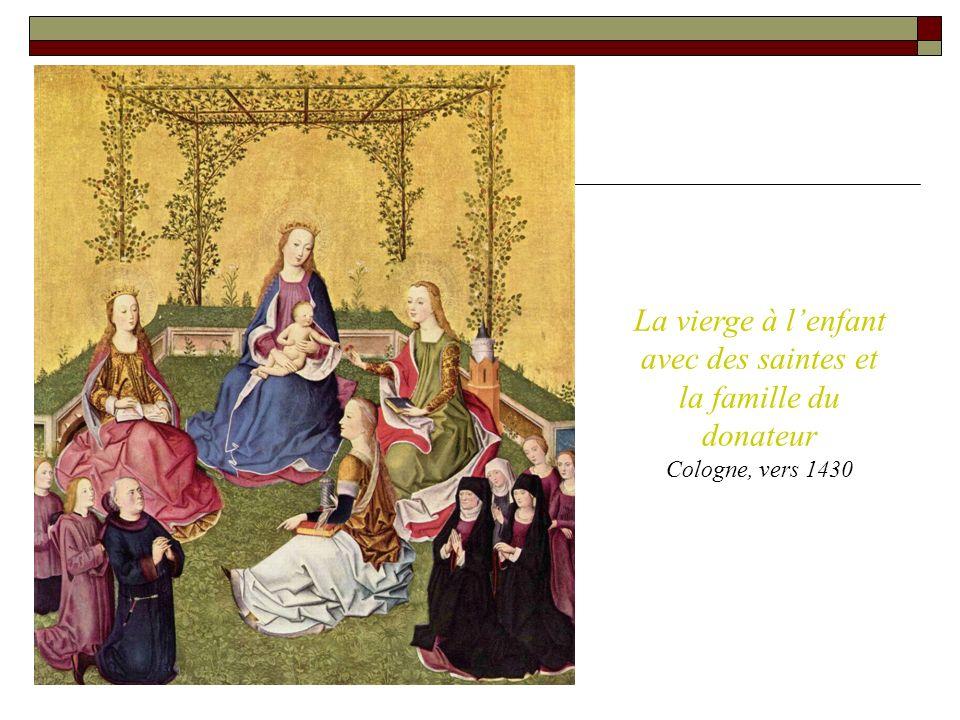 La vierge à l'enfant avec des saintes et la famille du donateur