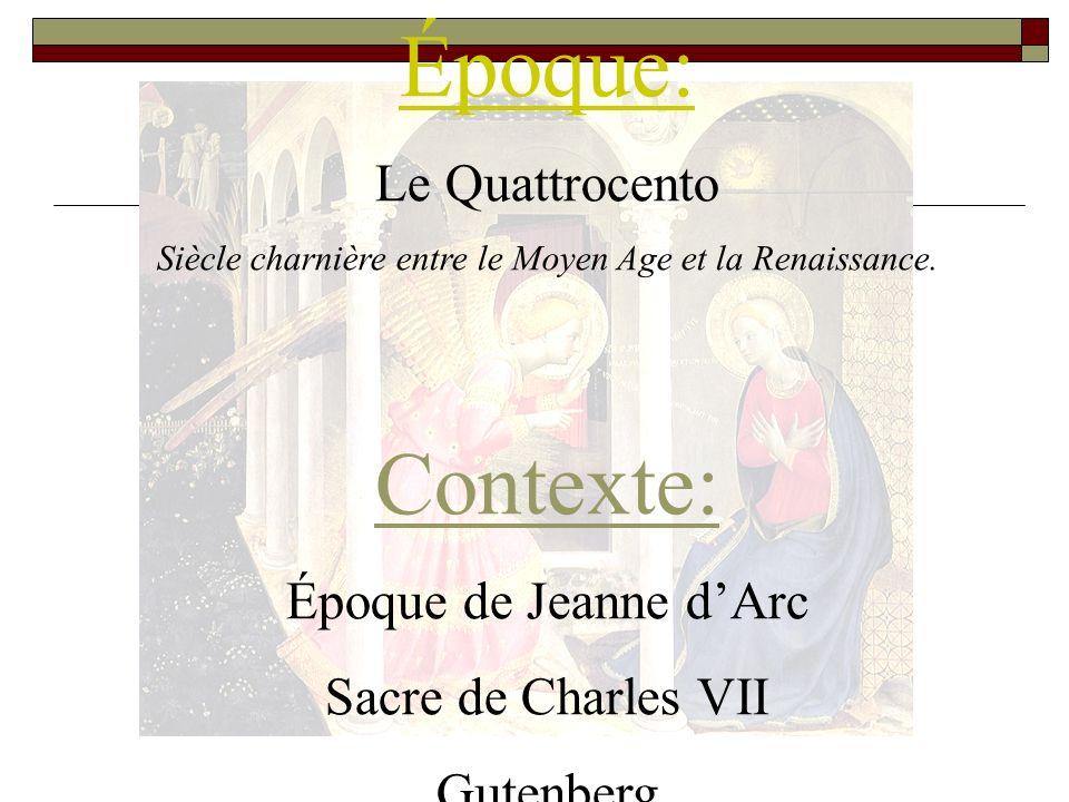 Siècle charnière entre le Moyen Age et la Renaissance.