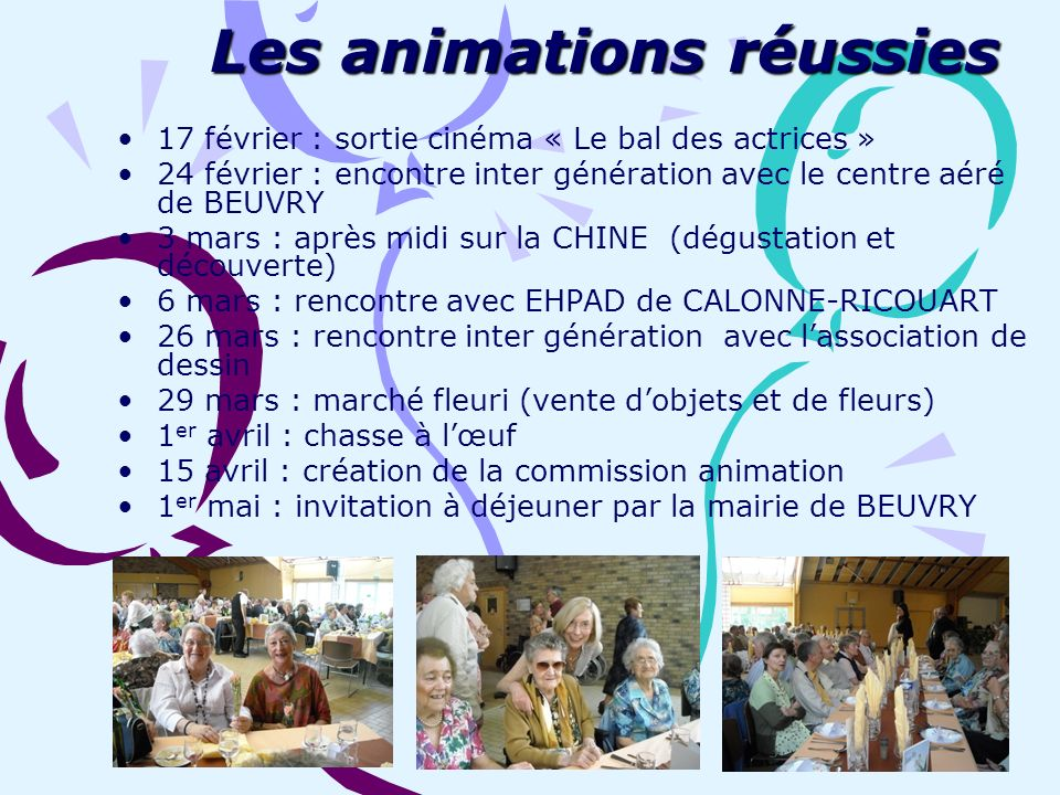 Les animations réussies