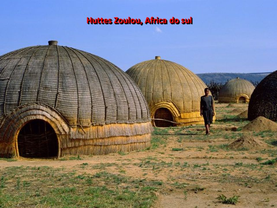 Huttes Zoulou, Africa do sul