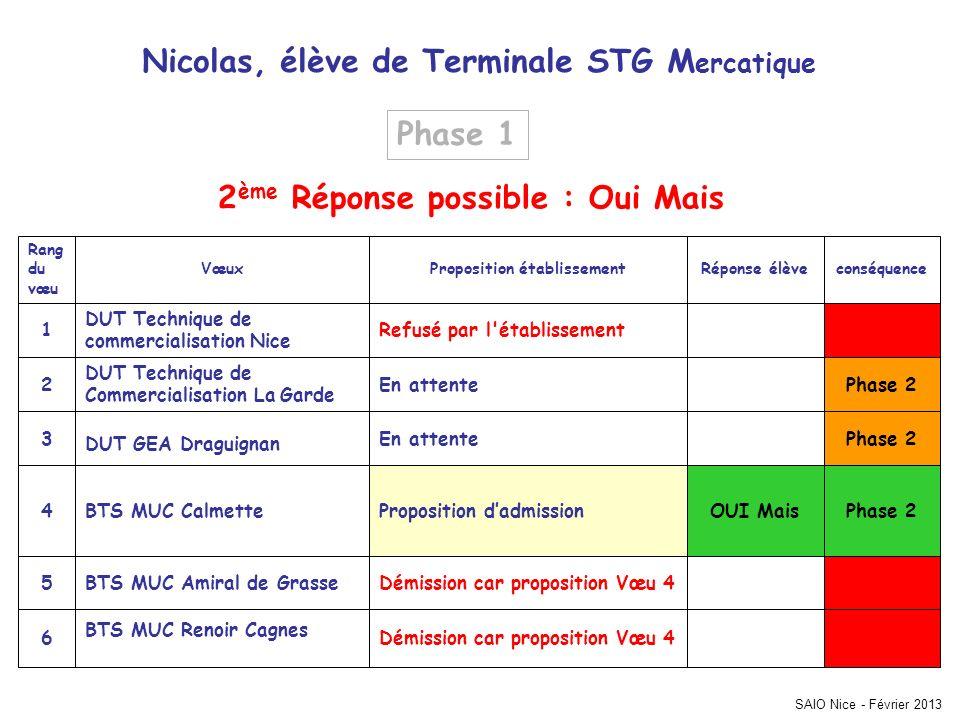 Nicolas, élève de Terminale STG Mercatique