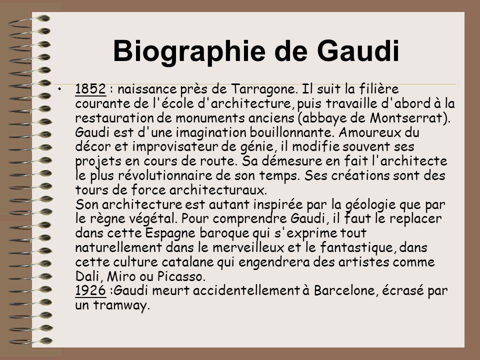 Biographie de Gaudi
